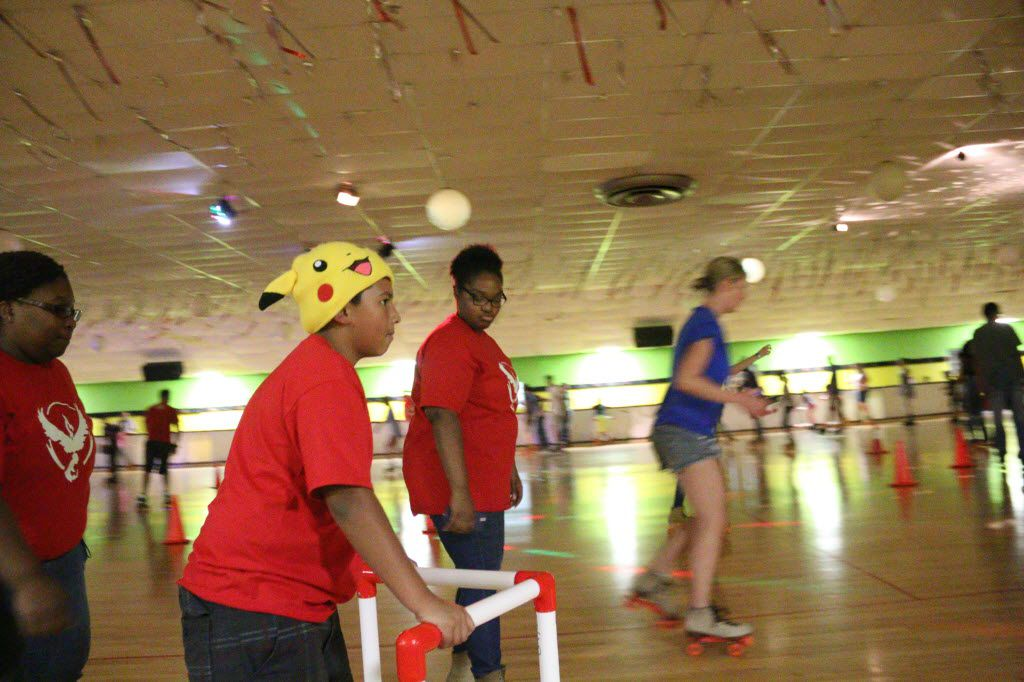 Thunderbird Skate in Plano held a Pokemon Go skate party on August 12, 2016 and brought out skaters of all ages to participate in the popular game.