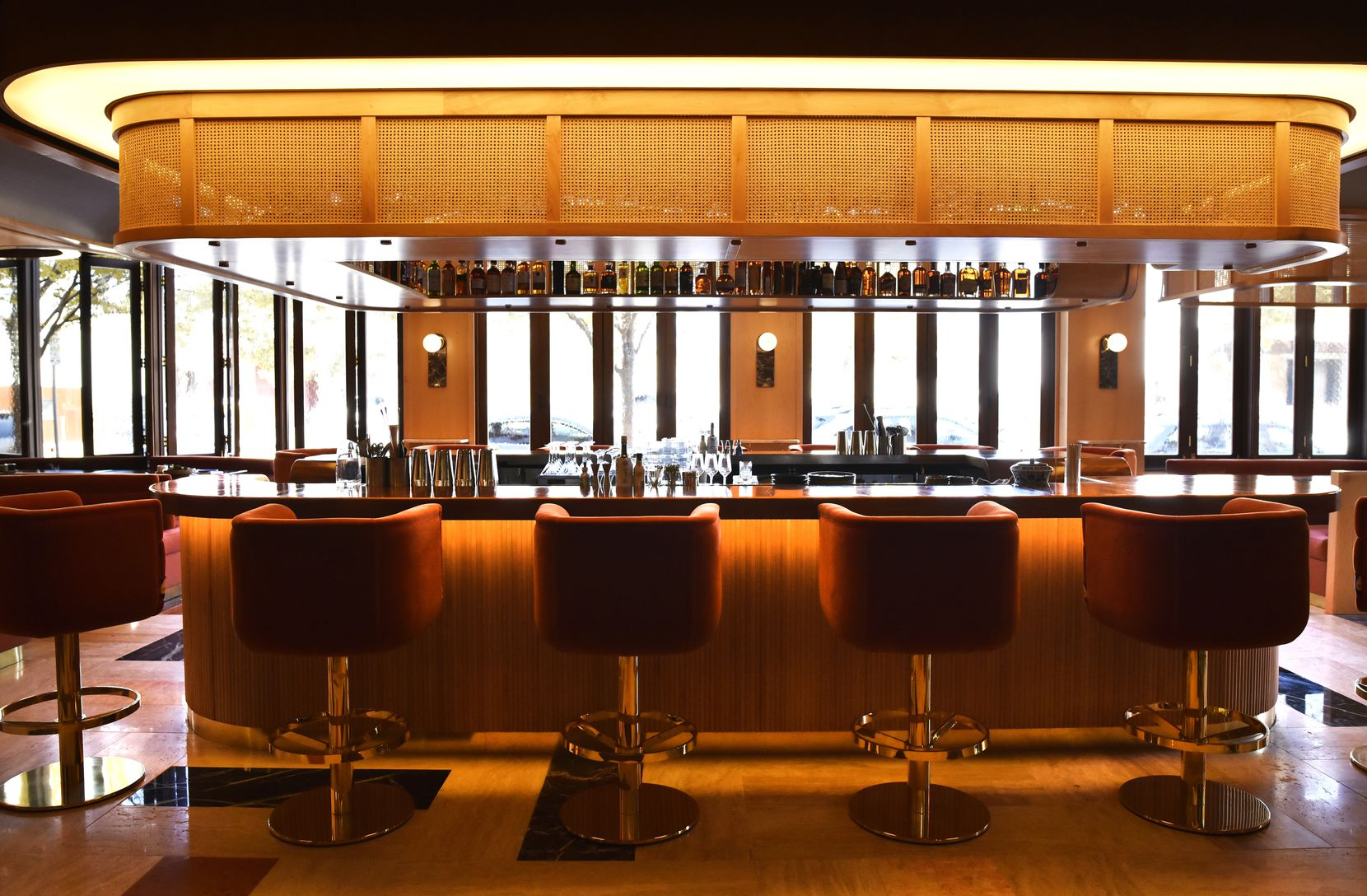 The bar at Georgie by Curtis Stone. The restaurant opens tonight in Knox-Henderson.