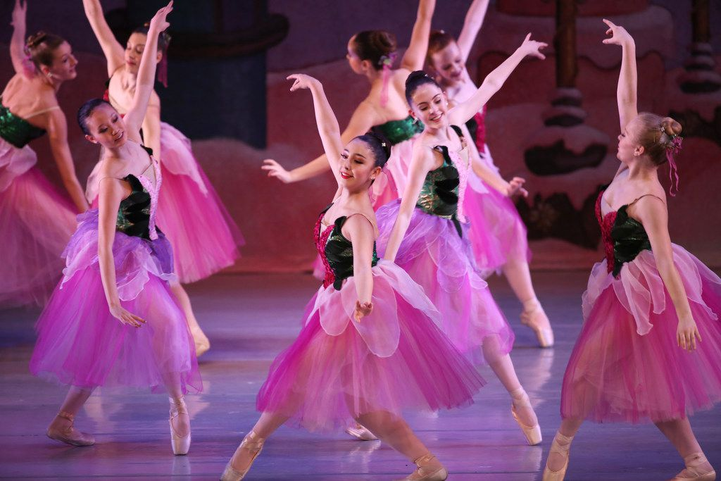 """Chamberlain Performing Arts students in the """"Waltz of the Flowers"""" number at the Eisemann Center."""
