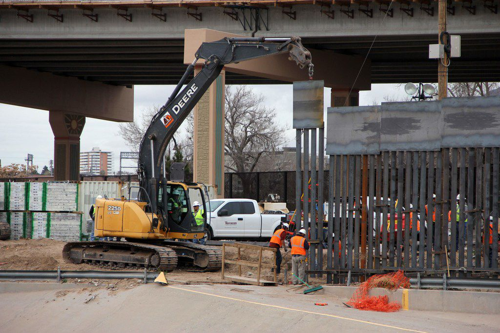 U.S. crews worked on building a section of the border wall between El Paso and Ciudad Juarez early this month.