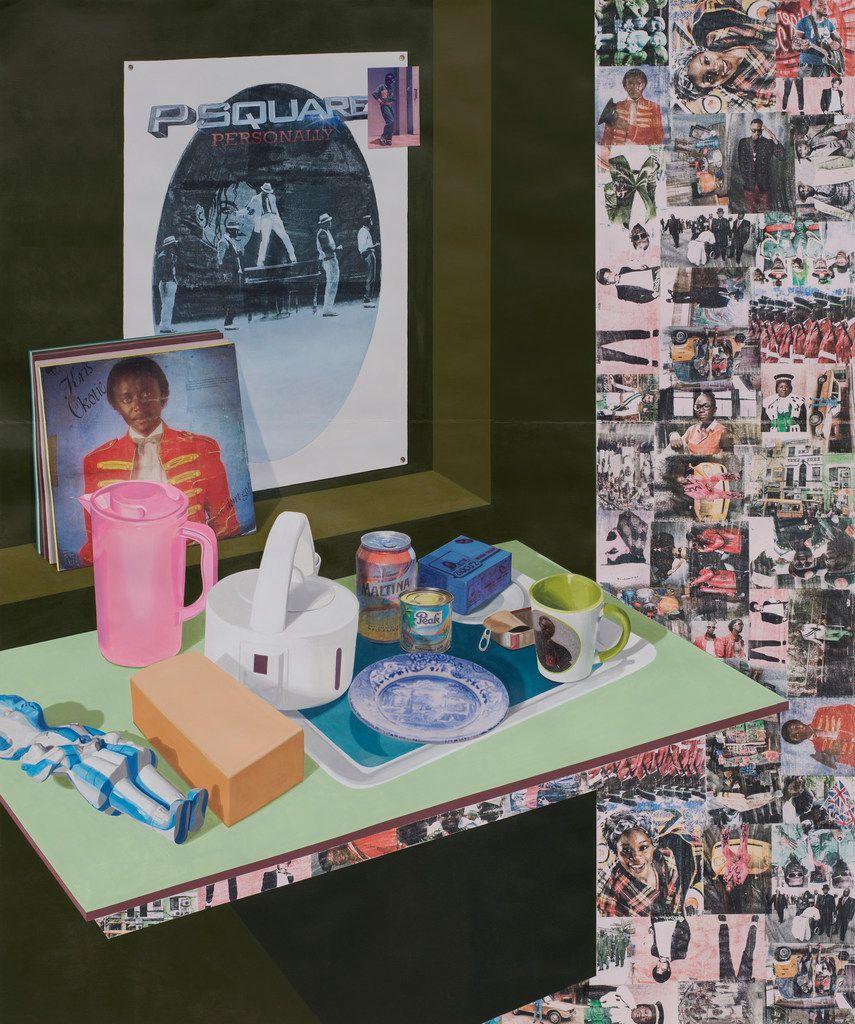 Njideka Akunyili Crosby's As We See You: Dreams of Jand,  2017. (The artist and Victoria Miro, London)