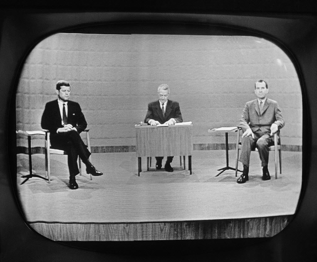 John F. Kennedy out-maneuvered rival Richard Nixon in the campaign's most crucial event, the first ever televised debate and the only one of that year's four that ultimately mattered.