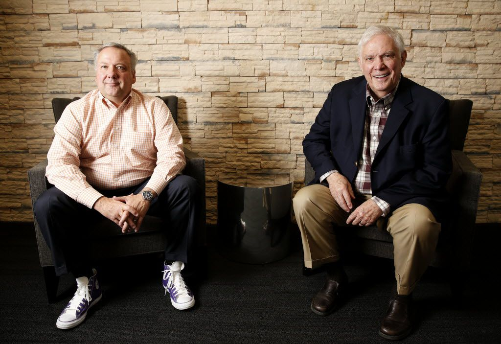Son and father Ken and Tom Luce are the minds (and purple high-tops) behind Okay to Say.