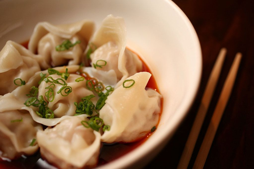Spicy wonton at Wu Wei Din (Rose Baca/Staff Photographer)