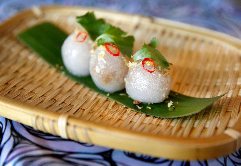 Sakoo, Lao tapioca dumplings, at Khao Noodle Shop