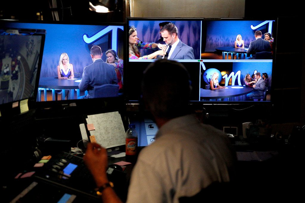 Tomi Lahren appears on camera during a taping of her show Tuesday, October 11, 2016 in Irving, Texas. Lahren, 24, is a rising conservative commentator who hosts a show on Glenn Beck's The Blaze multimedia network, which is based in Irving, Texas. (G.J. McCarthy/The Dallas Morning News)