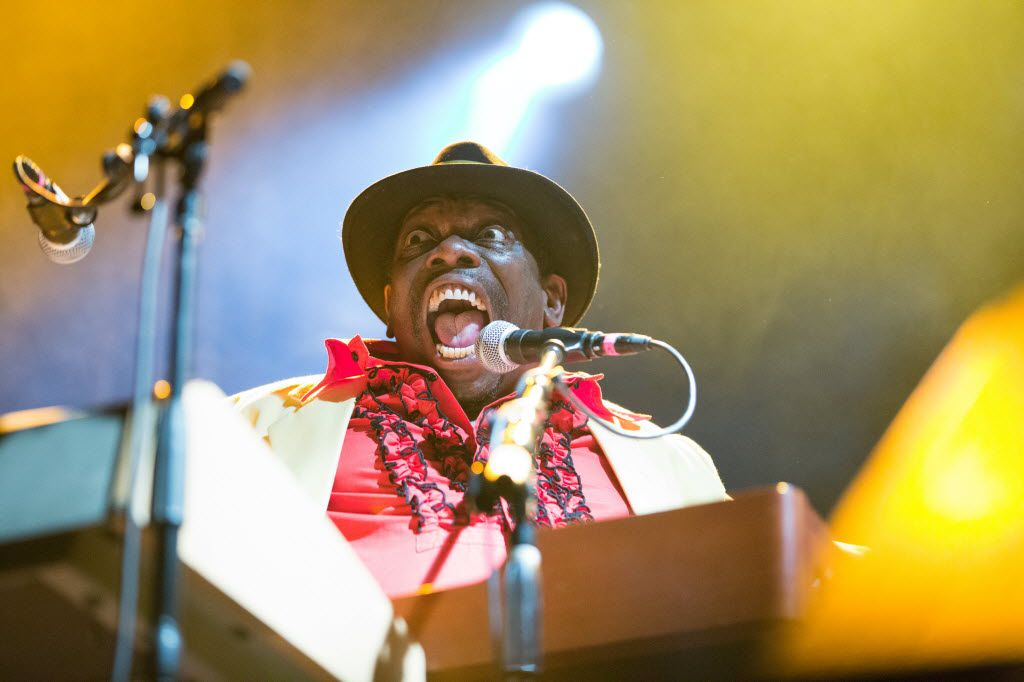 Lucky Peterson plays the keys during his headline performance at the Granada Theater in Dallas, Texas, on January 11, 2013.