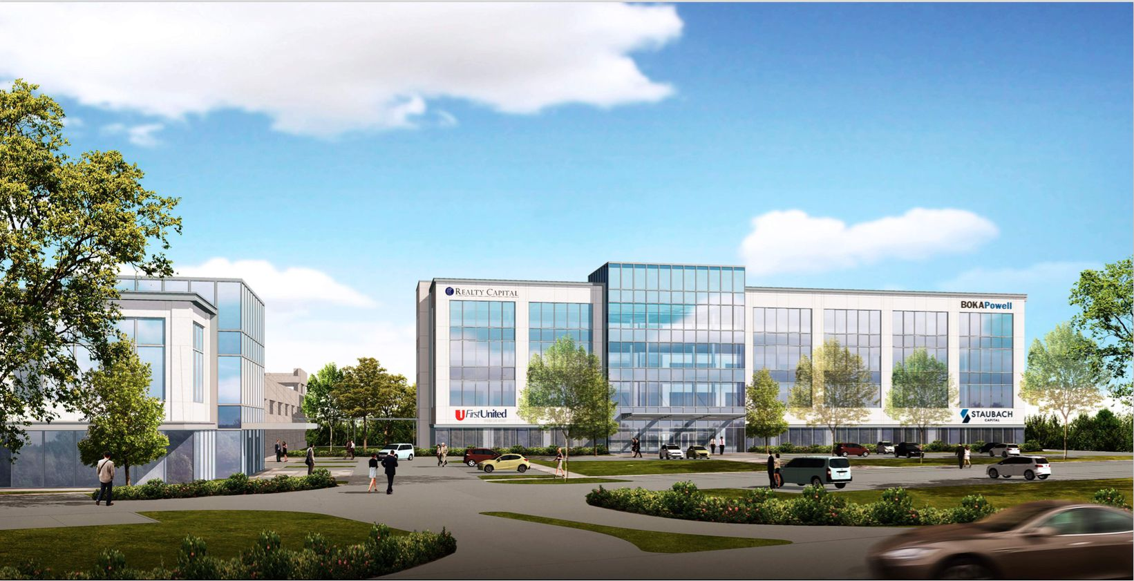 The Lakeside Center office project in Flower Mound includes two buildings.
