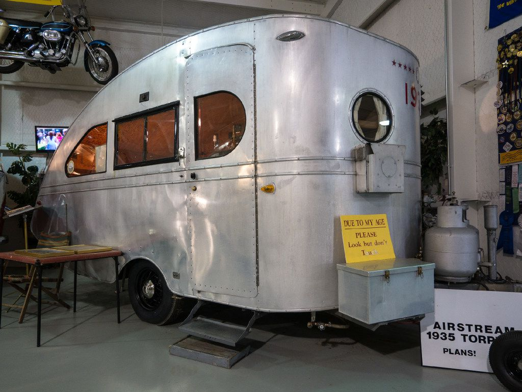 Built from a kit, this 1935 Airstream Tornado is the oldest existing Airstream trailer in the world.