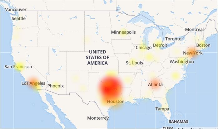 What the Downdetector.com website showed during the AT&T outage. The private site made the problem look worse than it is because of the high number of reports turned in by North Texas customers.
