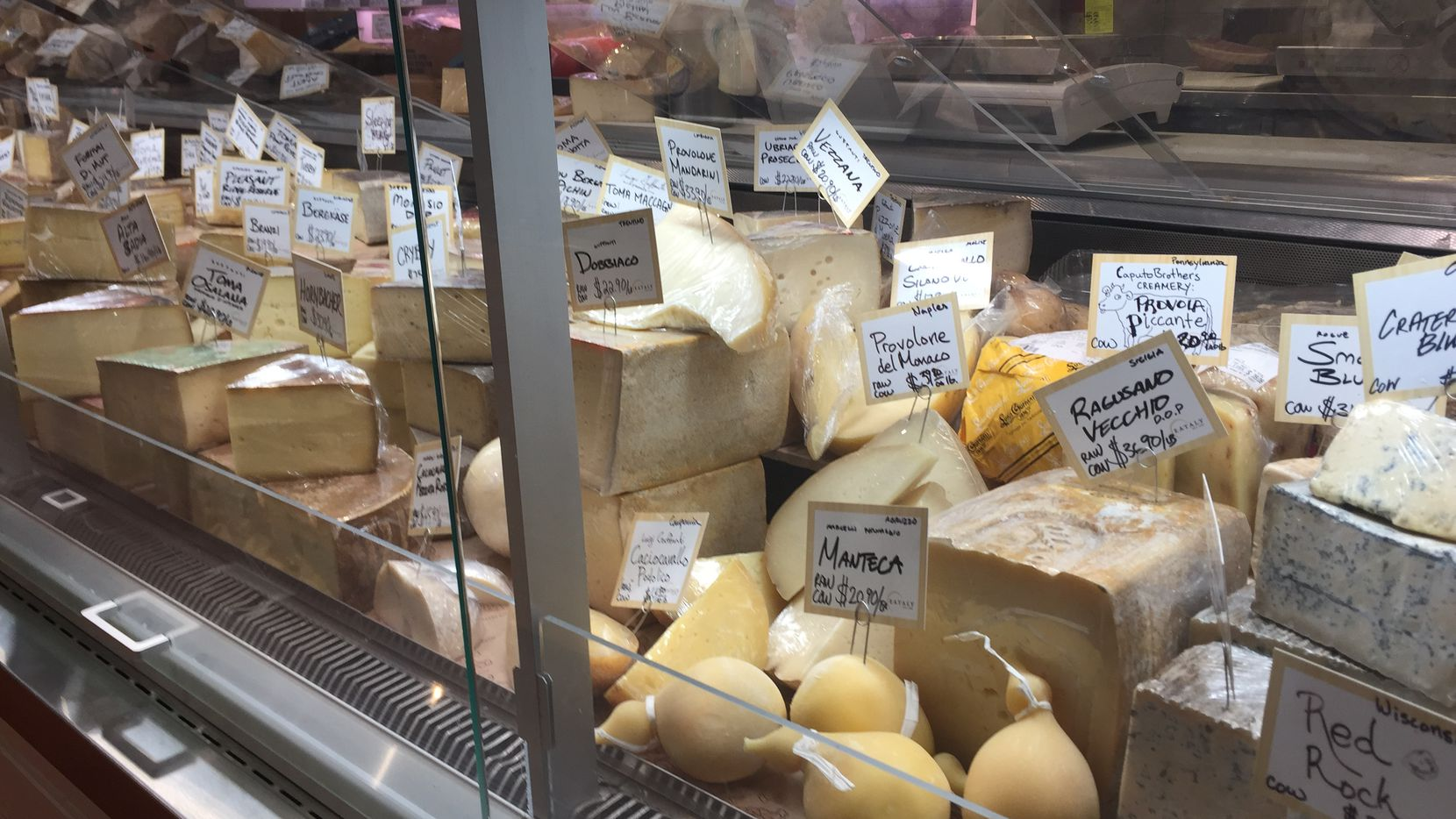 One of the cheese counters at Eataly in Downtown New York City.