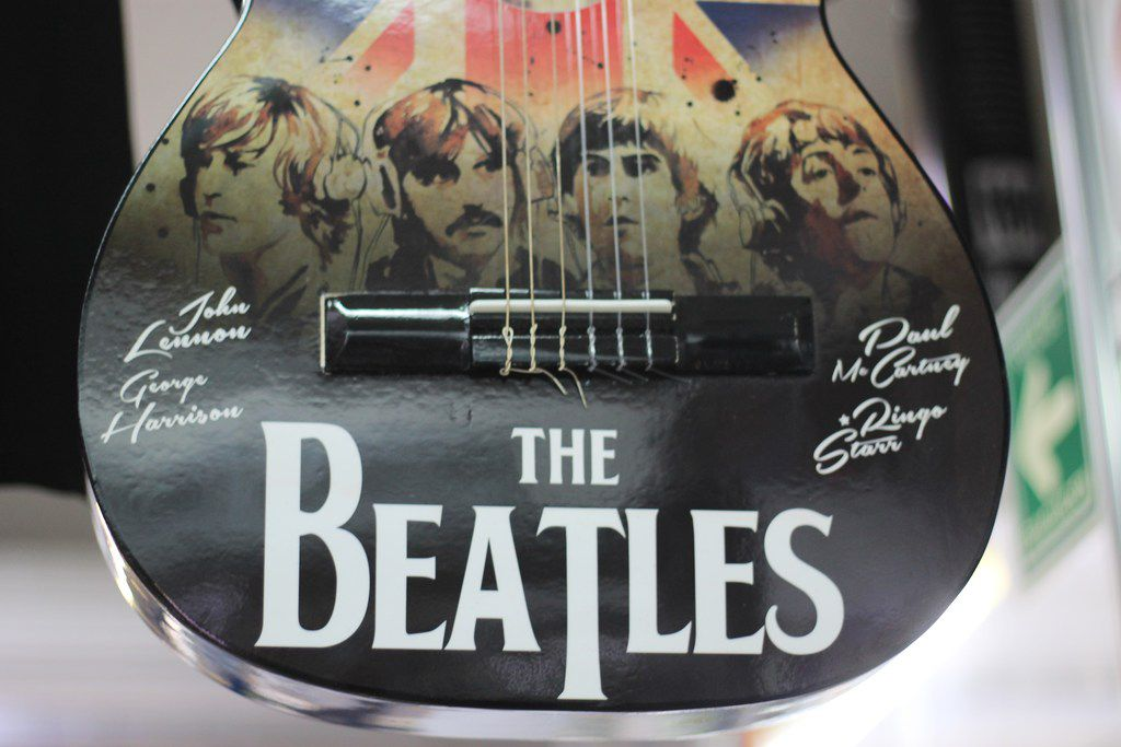 The shop include guitars made in Paracho, Michoacan. Mexico remains a loyal fan base for all things Beatles, said owner Ricardo Calderon.