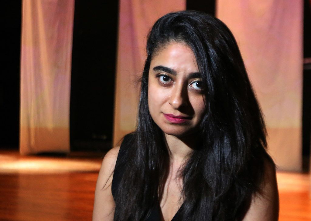 Playwright Maryam O. Baig  at a rehearsal of Down For #TheCount.