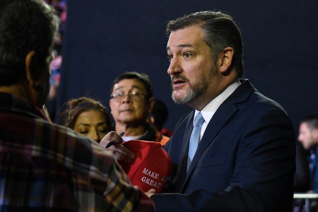Nebraska Sen. Ben Sasse took his friendly feud with Texas Sen. Ted Cruz to another level on Wednesday when he stole Cruz's Dr Pepper refrigerator. Cruz  attends a rally with President Donald Trump in El Paso, Texas, Monday, Feb. 11, 2019