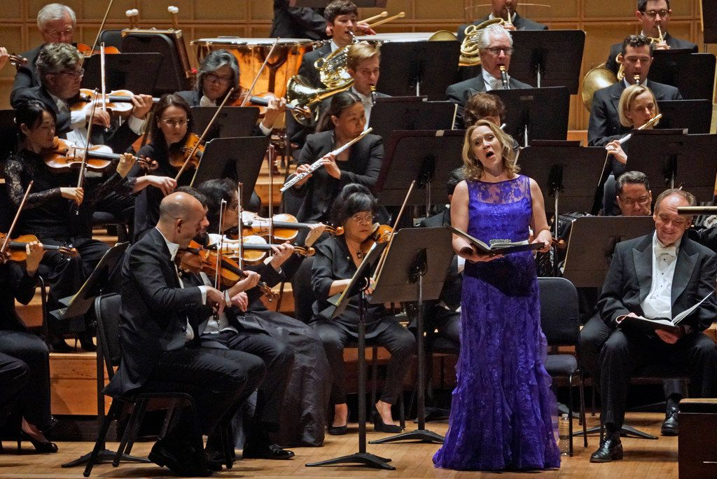 Soprano Carolyn Sampson performs Haydn's The Creation with conductor Matthew Halls and the Dallas Symphony Orchestra and Chorus at the Meyerson Symphony Center in Dallas, Texas on Friday, May 24, 2019.
