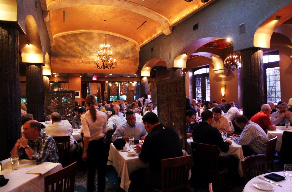 An interior view of Al Biernat's restaurant.