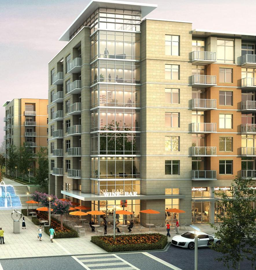 The second phase of the 42-acre Preston Hollow Village project will include over 500 apartments and retail space.