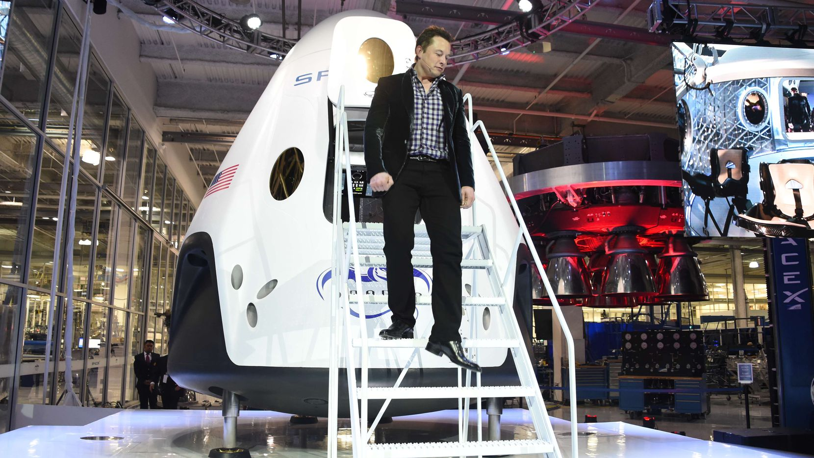 SpaceX CEO Elon Musk unveiled the company's seven-seat Dragon V2 spacecraft in Hawthorne, Calif., in the spring. With spacecraft that carry tourists into orbit and connect Paris to New York in less than two hours, the new heroes of space travel are not astronauts but billionaire captains of industry.