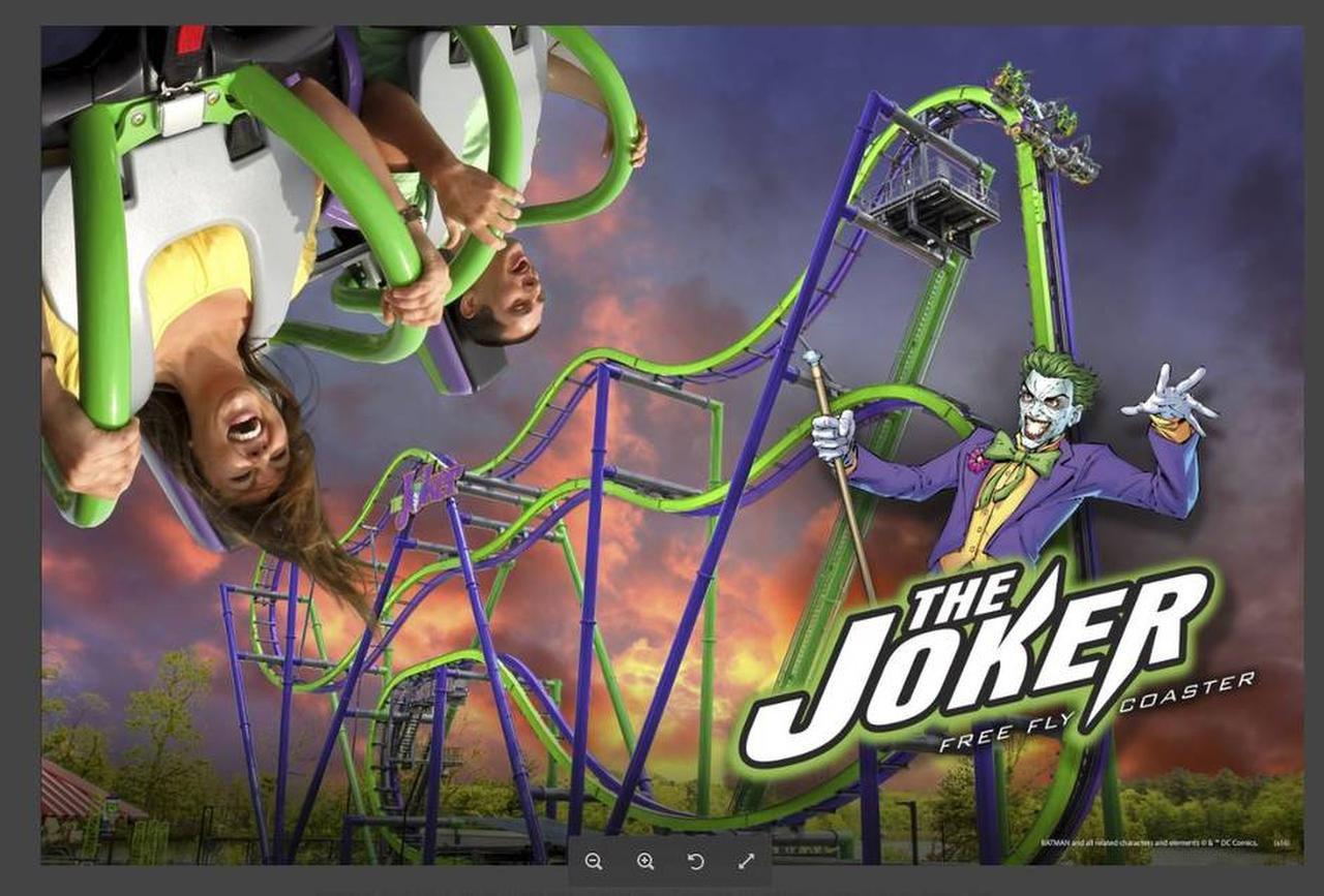 Una publicidad de la nueva montaña rusa que se estrenará en 2017 en Six Flags Over Texas en Arlington(CORTESÍA)