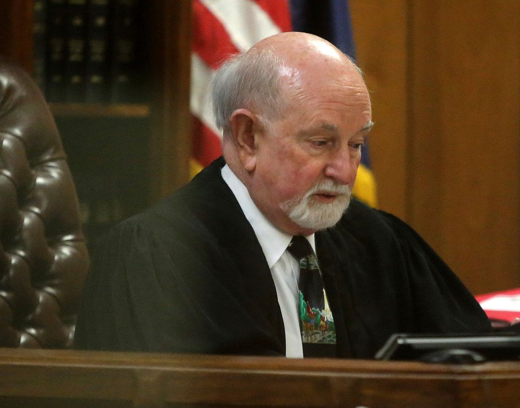 19th State District Court Judge Ralph Strother reads the plea agreement by former Baylor University fraternity president Jacob Anderson in Waco earlier this week.