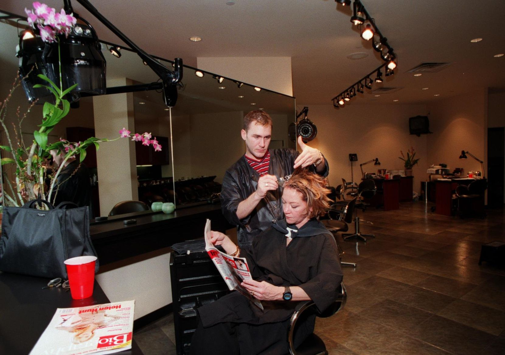 A customer gets her hair done at Jean-Philippe Salon on  Lover's Lane.
