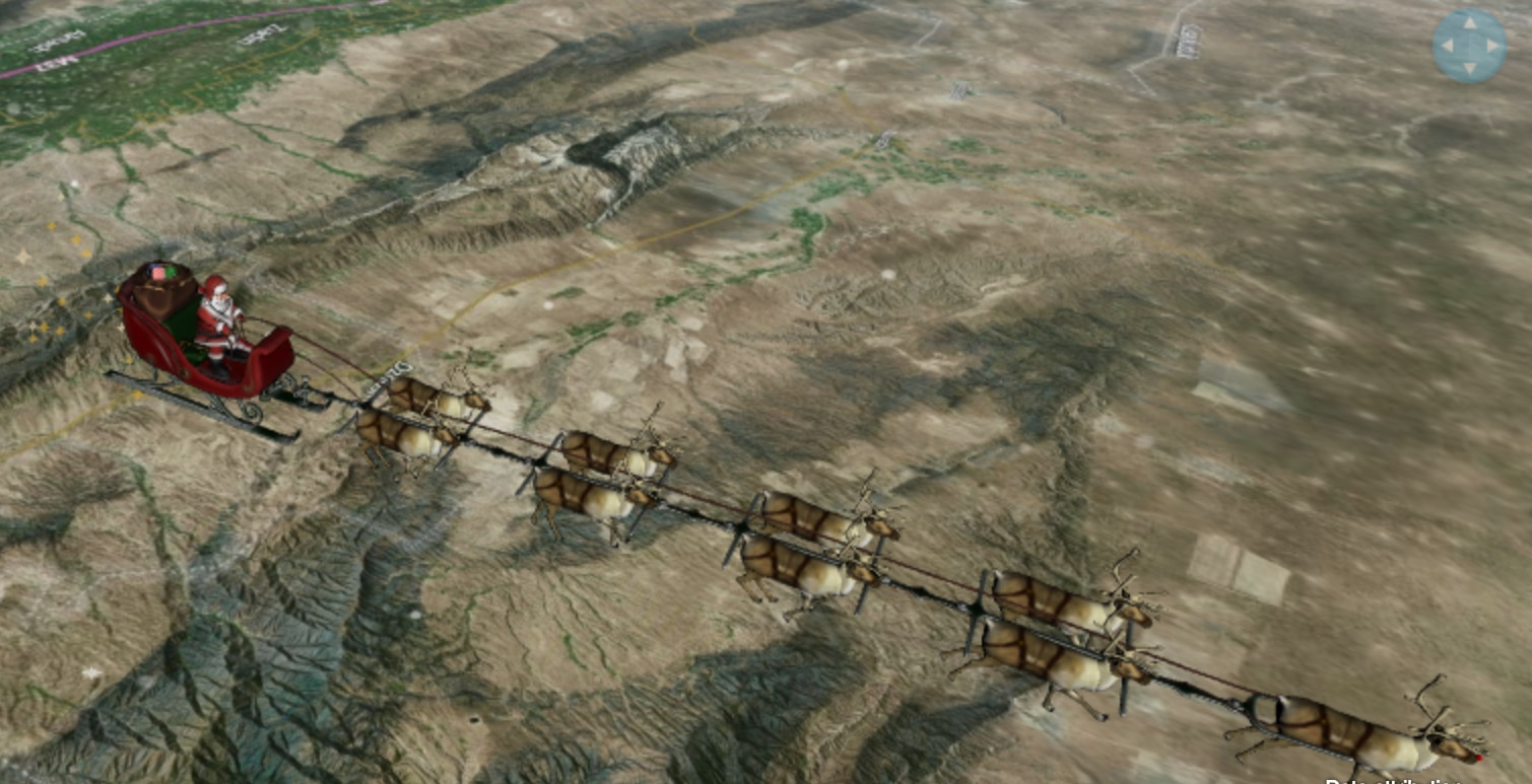 Sigue la trayectoria de Santa Claus.