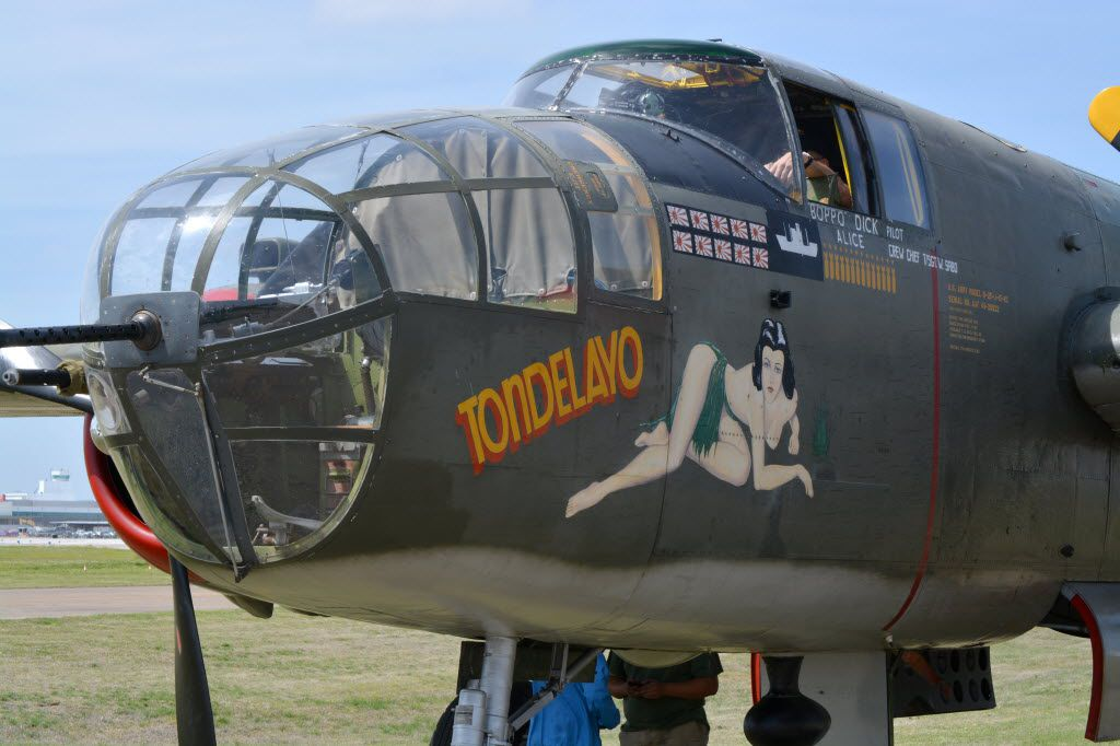 WW II era B-25 bomber that will flying this weekend in the Wings of Freedom Tour at the Frontiers of Flight Museum near Love Field.