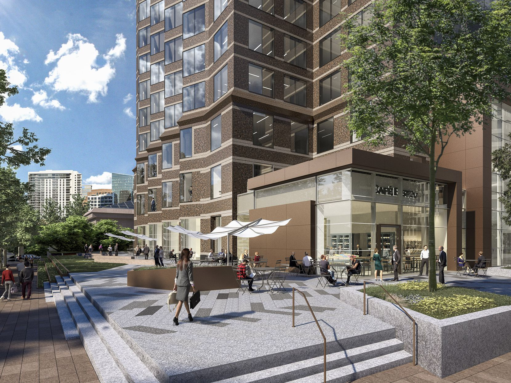 Redevelopment of Trammell Crow Center will add new retail space for tenants and visitors.