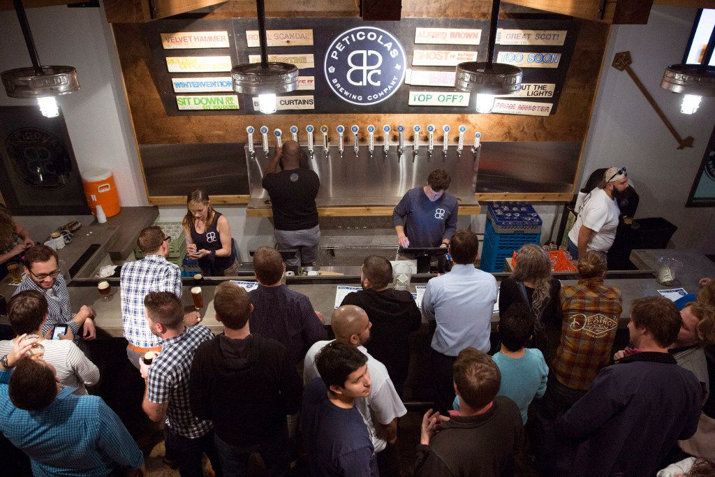 Peticolas Brewing Co. opened its doors to the taproom in Dallas on Jan. 12, 2017. (Allison Slomowitz/ Special Contributor)