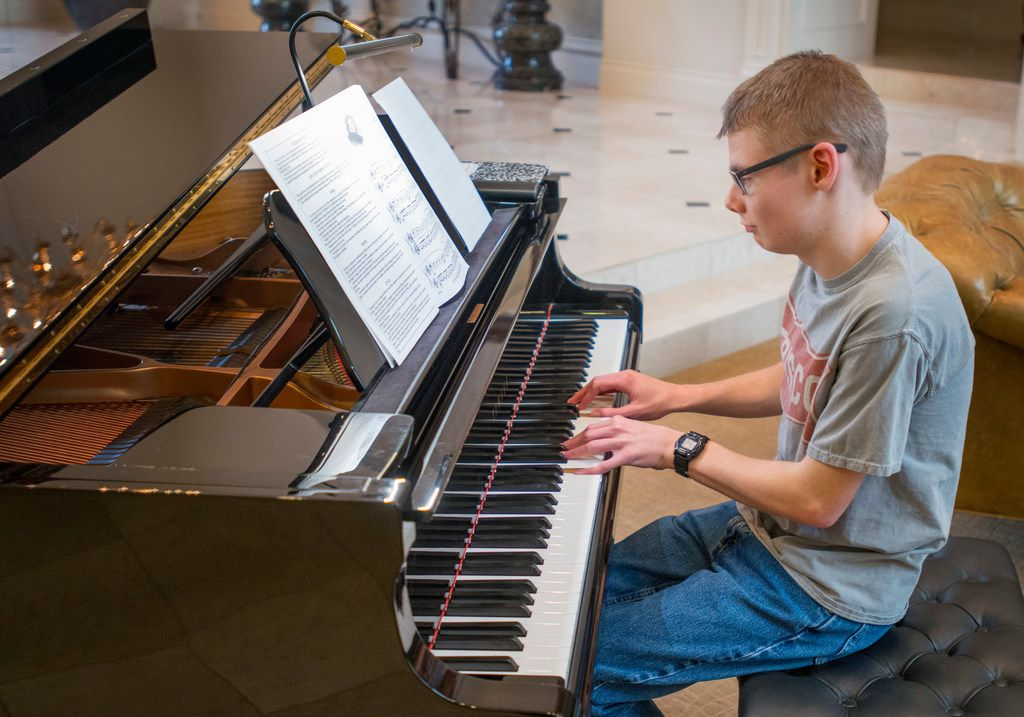 Twenty-one-year-old Ryan Bartek enjoys playing the piano and is in the Frisco youth orchestra. His parents, Doug and Jodi, support 29 Acres for people like Ryan who are on the autism spectrum.