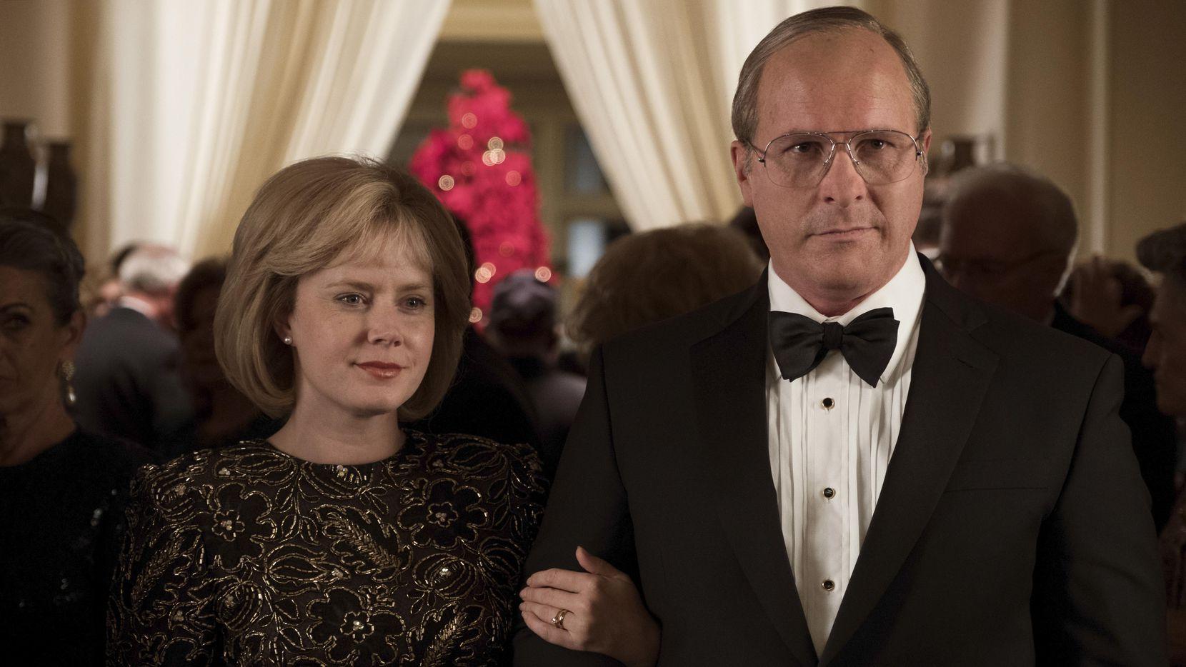 "Amy Adams como Lynne Cheney y Christian Bale como Dick Cheney en la película ""Vice"".(Matt Kennedy)"