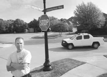 Chris Meyer, vice president of the Virginia Woods Property Owners Association, says of speeding drivers in the secluded McKinney neighborhood, 'We've had some close calls.'
