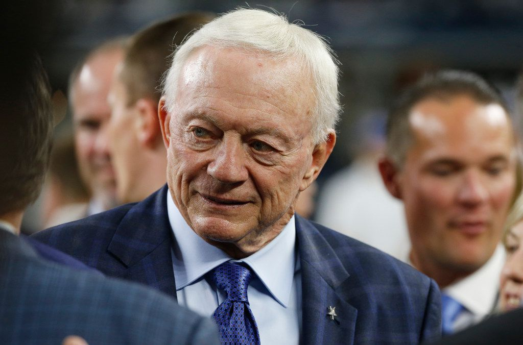 Dallas Cowboys owner Jerry Jones walks the sidelines before the first half of an NFL game between the Cowboys and the Tennessee Titans on Nov. 5 in Arlington.