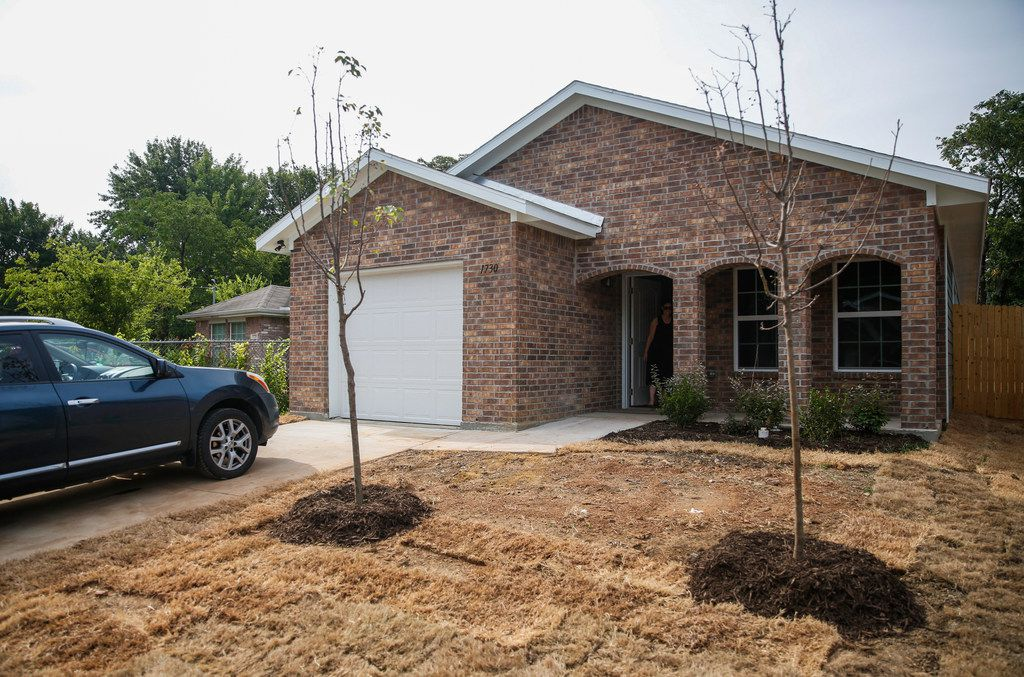 One of Habitat for Humanity's recently completed homes in West Dallas.  After several years of operating with millions of dollars in unsecured debt, Habitat CEO Dave Crawford says, the nonprofit is back in the black.