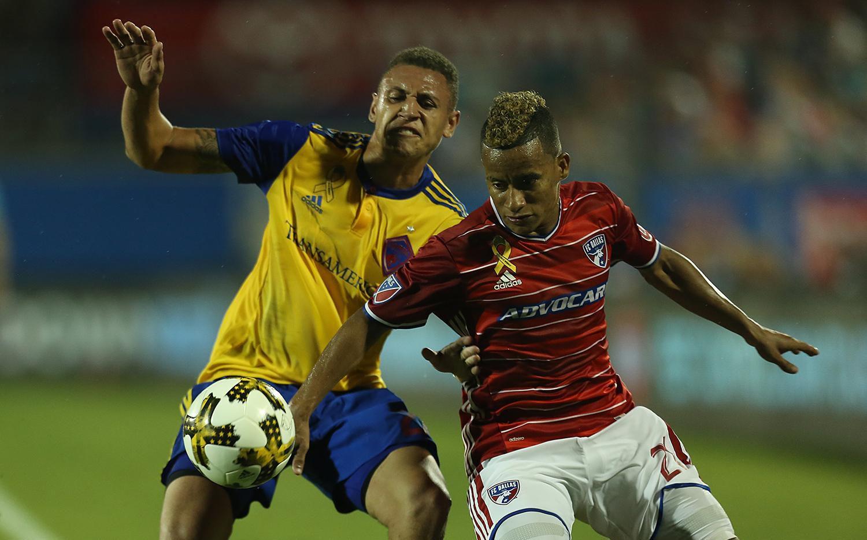 El jugador del FC Dallas Michael Barrios estuvo cerca de pasar a San Lorenzo en agosto. (ESPECIAL PARA AL DÍA/OMAR VEGA)