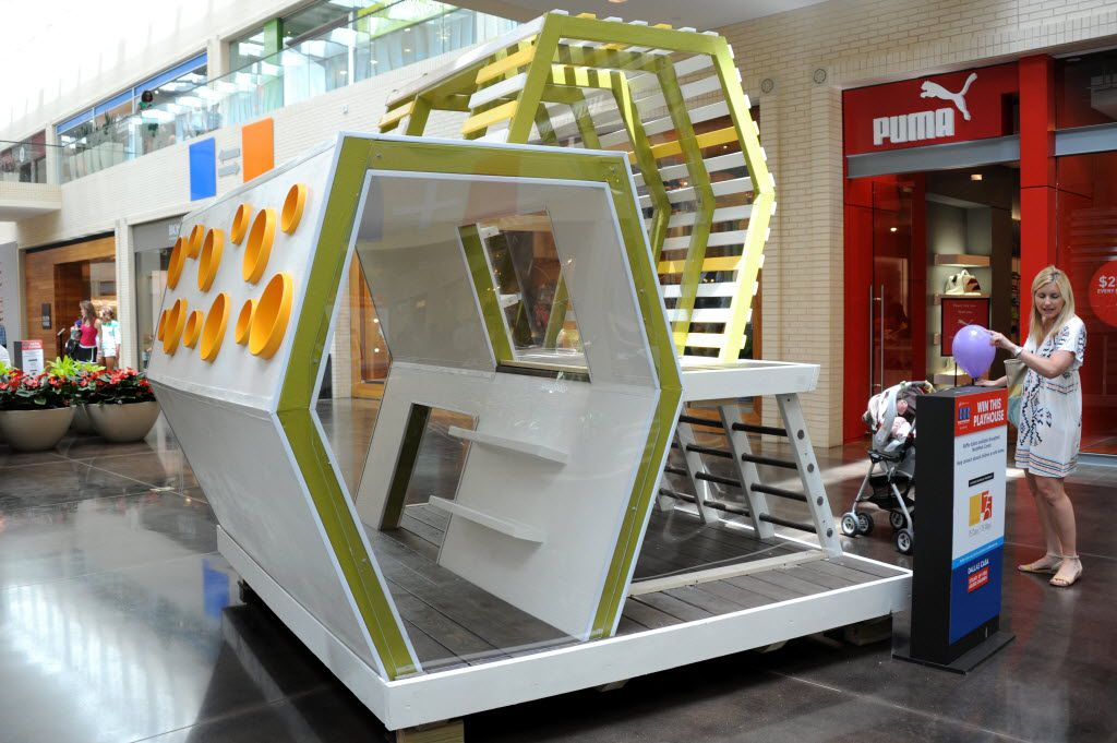 The Simple Play House was featured in the 2013 CASA Parade of Playhouses at NorthPark Center. (Alexandra Olivia/ Special Contributor)