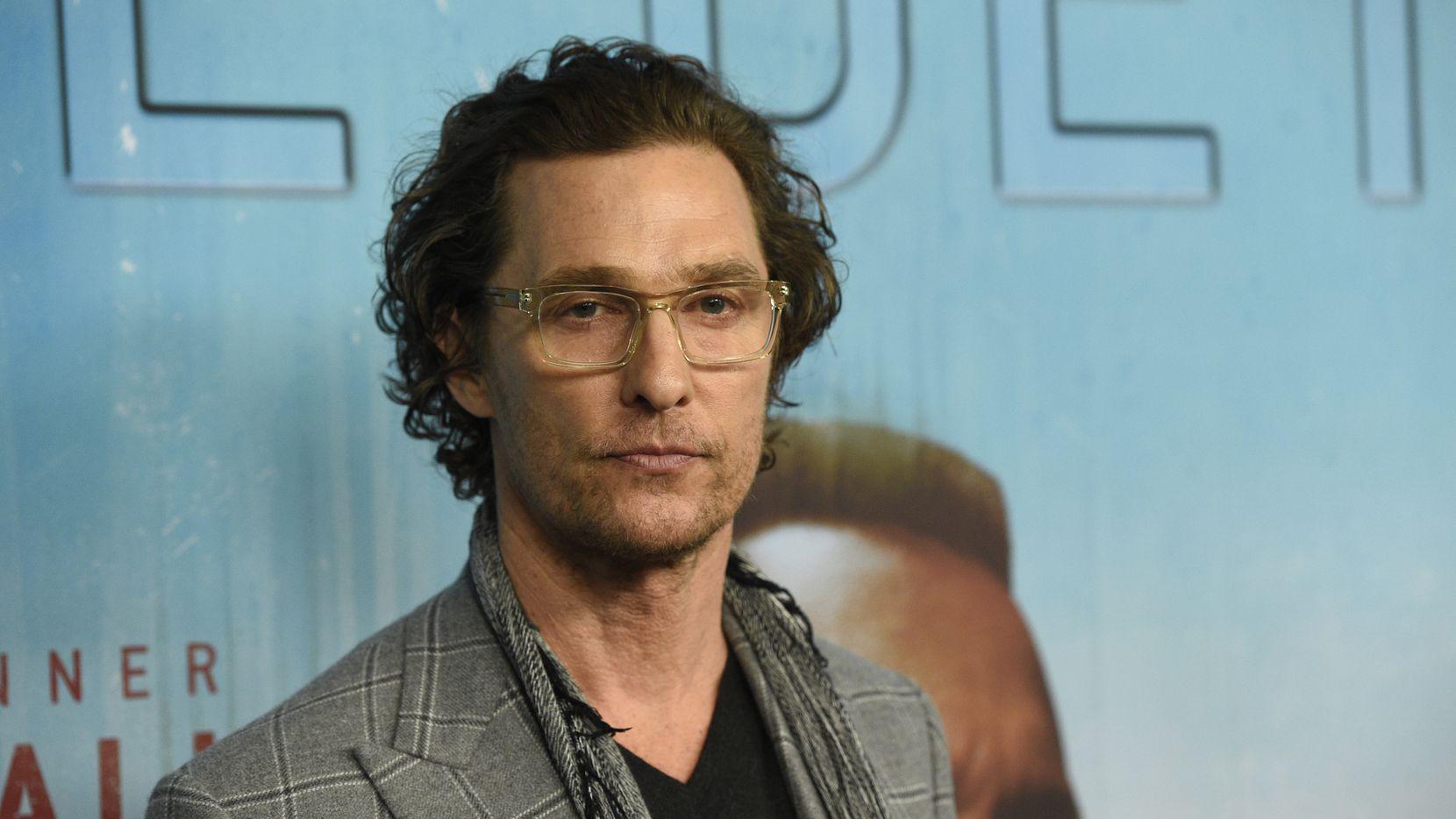 El actor y productor Matthew McConaughey.