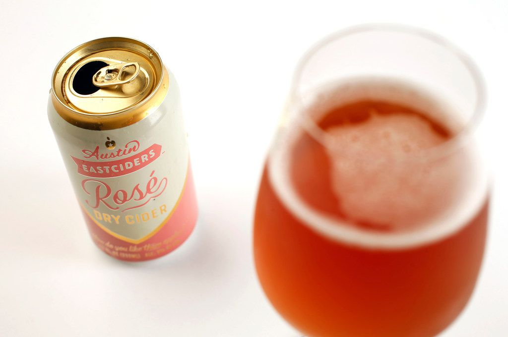 Rose dry cider from Austin Eastciders photographed in the studio on Monday, May 20, 2019.