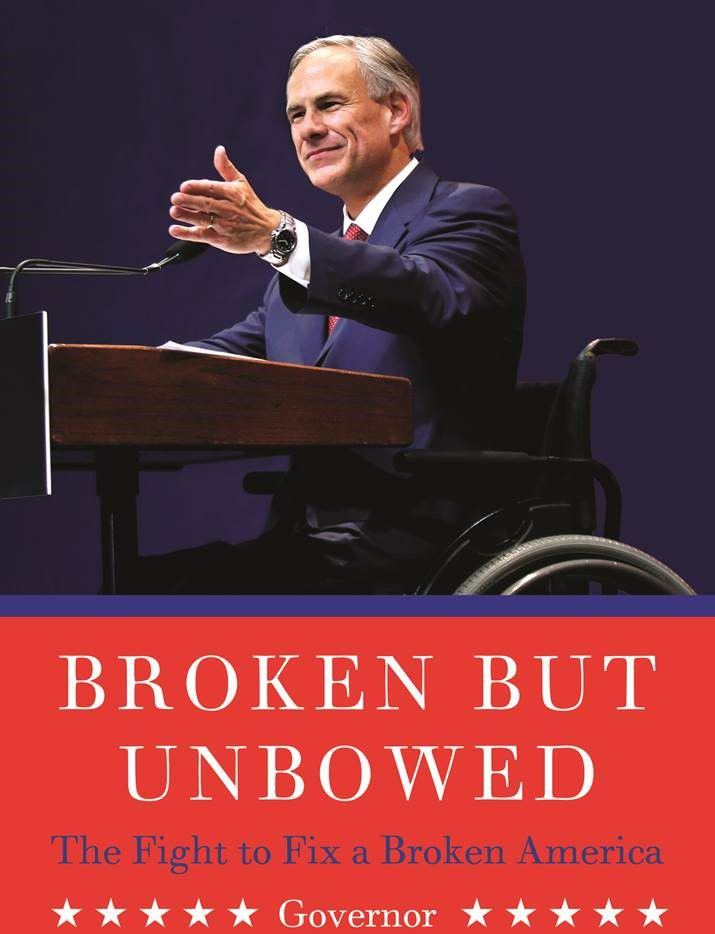 The cover of Greg Abbott's first book, which is set for release May 17.