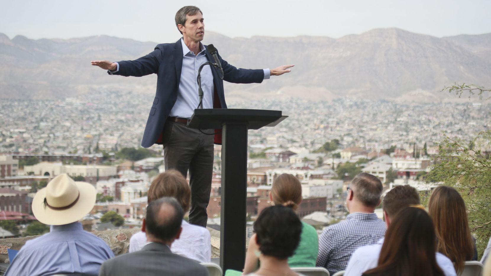 El candidato demócrata Beto O'Rourke retomó su campaña por la nominación del Partido Demócrata en El Paso, Texas.