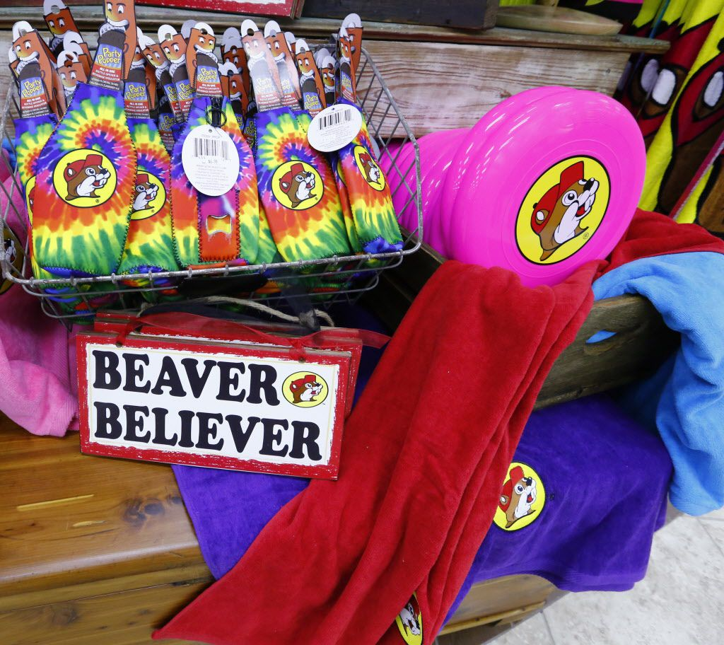 You can buy all kinds of Buc-ees swag at the Terrell store.