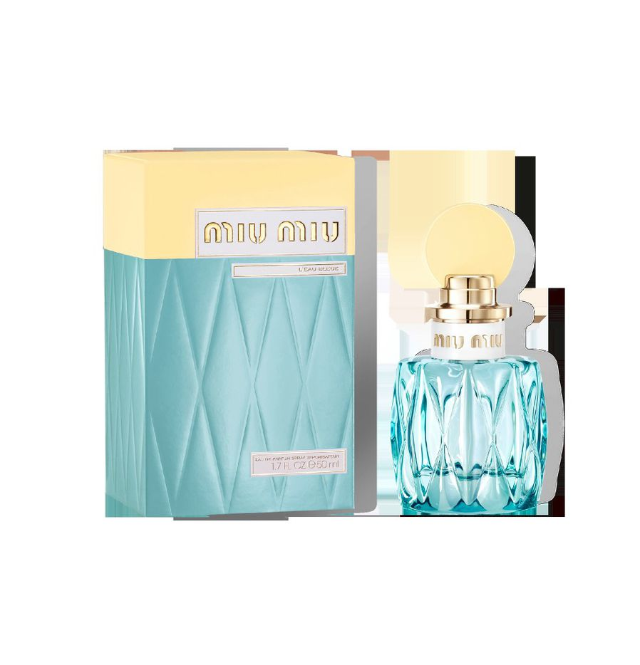 Miu Miu L Eau Bleue, featuring lily of the valley and honeysuckle, $90, Sephora