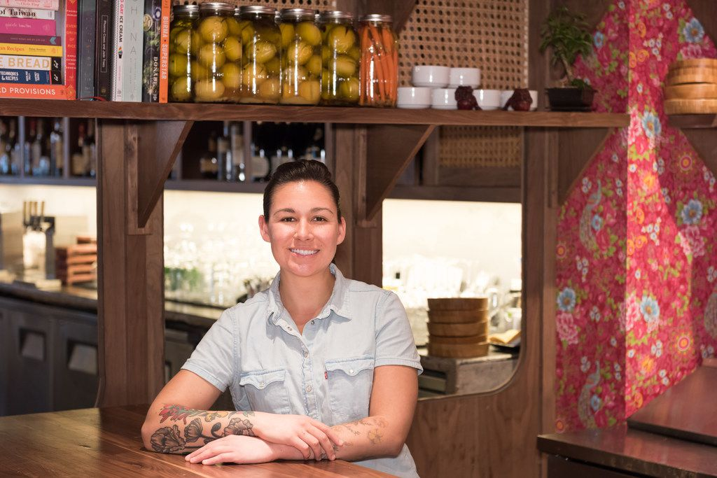 Kirstyn Brewer is the executive chef at Gung Ho, an American-Chinese restaurant on Greenville Avenue in Dallas.