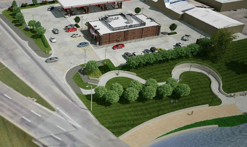 This is what QuikTrip is proposing for Bachman Lake