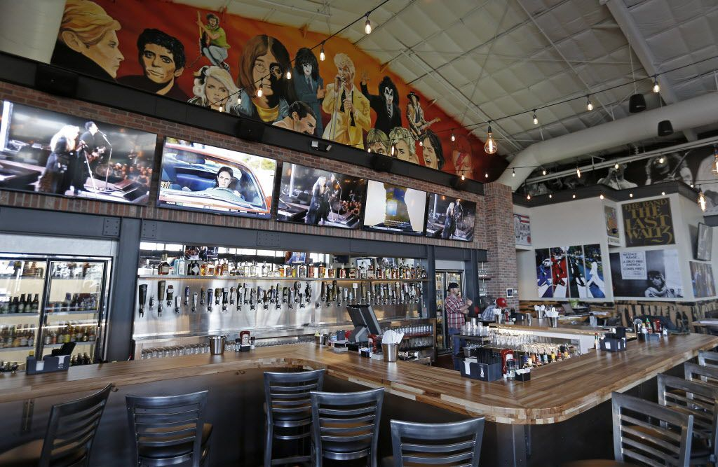 The bar at Rock & Brews in The Colony, Texas, Tuesday, March 8, 2016. (Jae S. Lee/The Dallas Morning News)