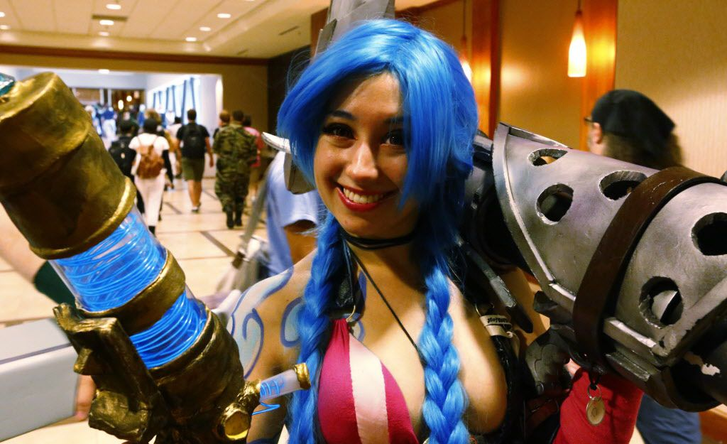 Mary Cazabon of Richardson as Jinx from Legend of Legends at AnimeFest 2015 in downtown Dallas Saturday September 5, 2015.