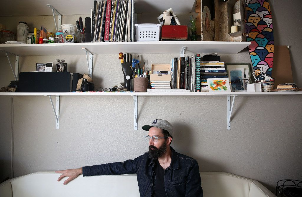 Muralist Kyle Steed in his Oak Cliff studio
