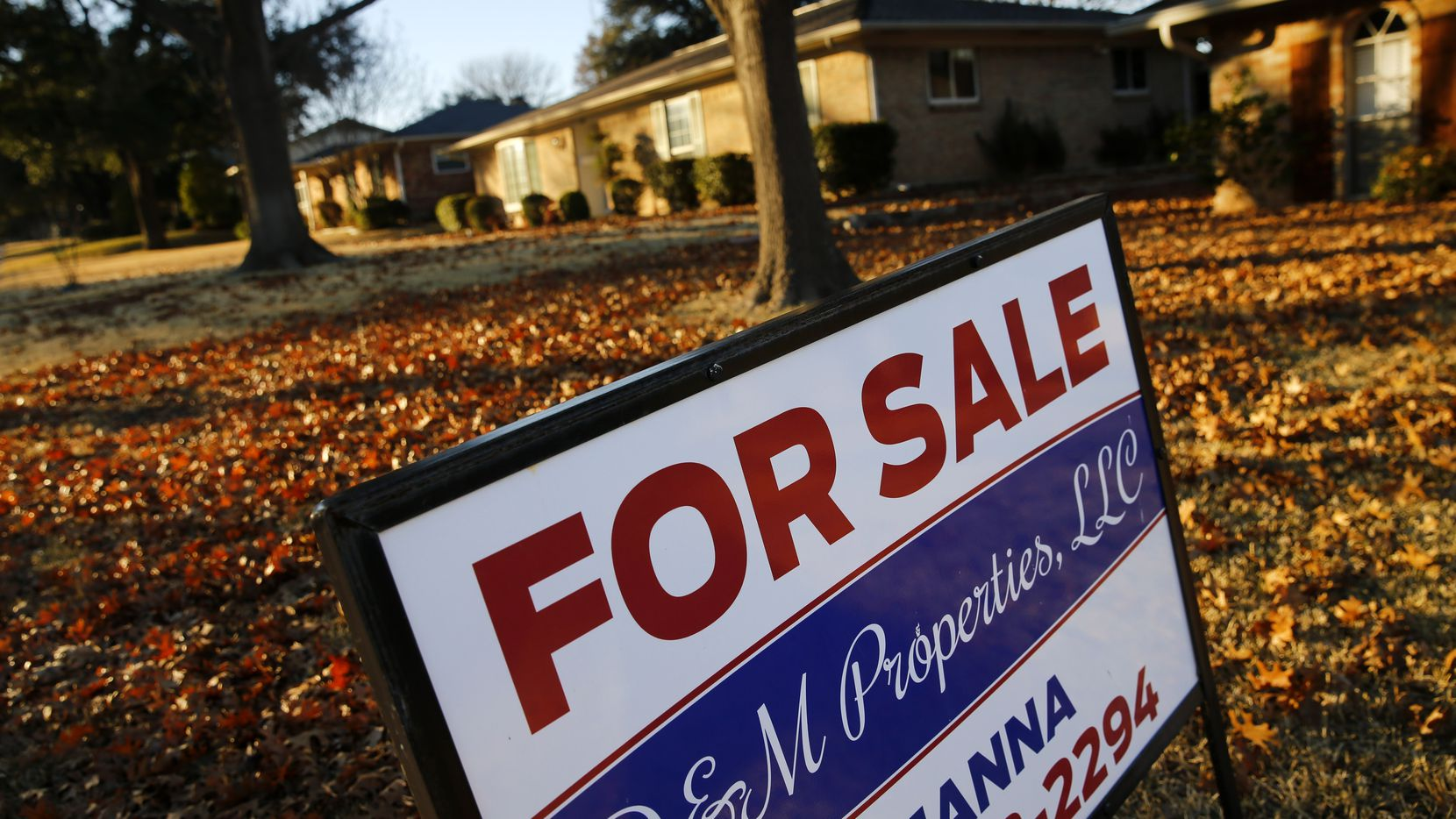 Dallas-area home prices were 6.9 percent higher in December than a year earlier.