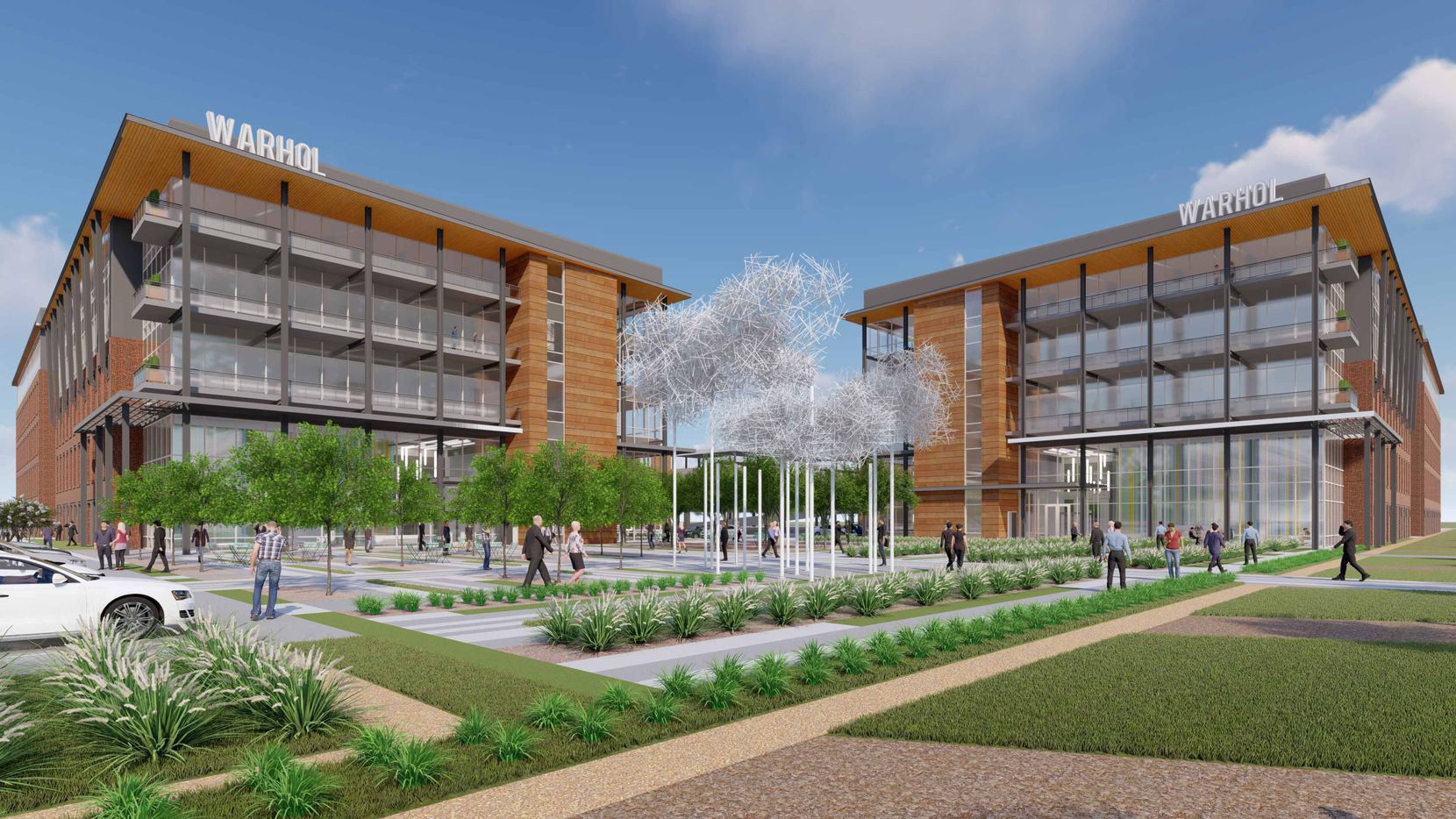 The two new office buildings planned at Cypress Waters will start next year.