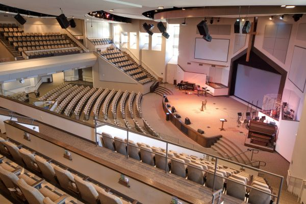 G.L. Barron completed this 1,100-seat auditorium for Northside Baptist Church in Weatherford, Texas, last year. It's been nicknamed the Bass Hall of Weatherford.